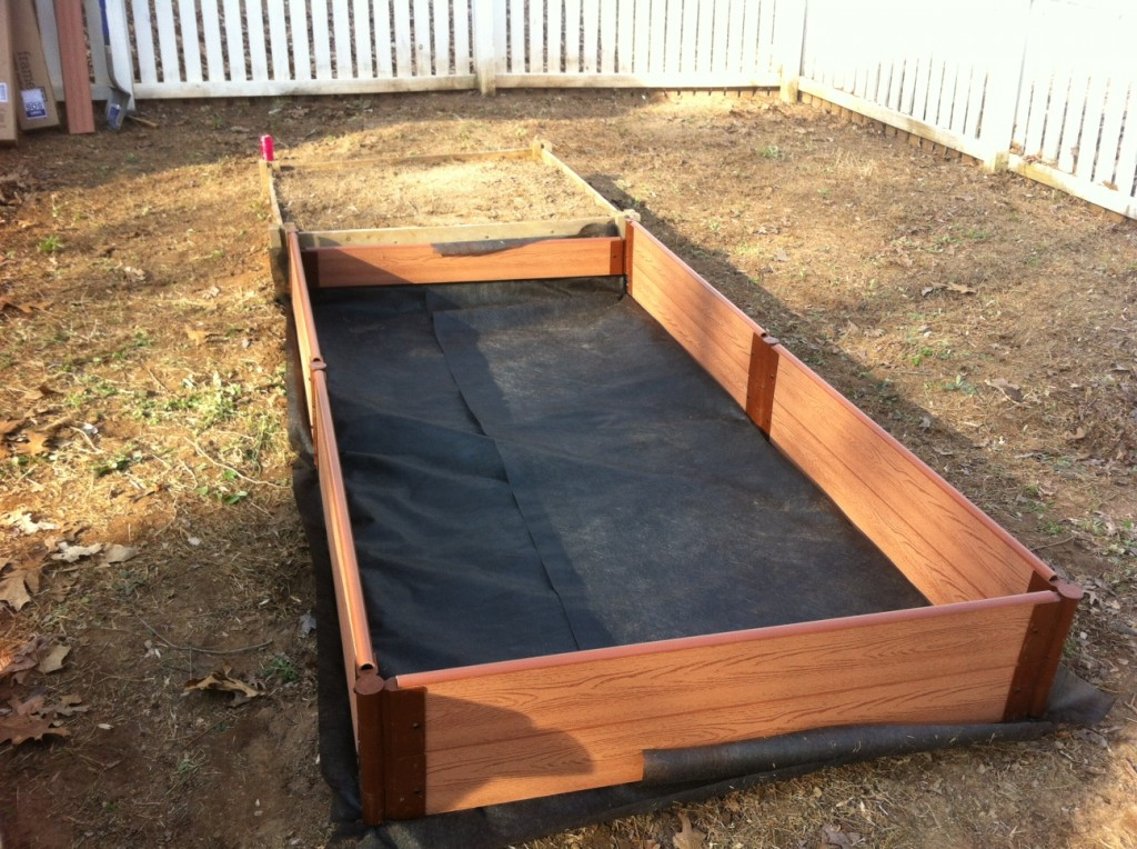 Building raised garden beds veggie garden virgin for Garden construction