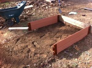 Partially Built Garden Box
