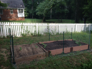 Fence with one side complete