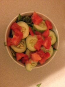 Salad with my garden cucumber